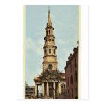 La iglesia de St Philip, Charleston, obra clásica  Postales