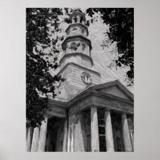 La iglesia de St Philip, Charleston Poster