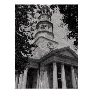 La iglesia de St Philip, Charleston Póster