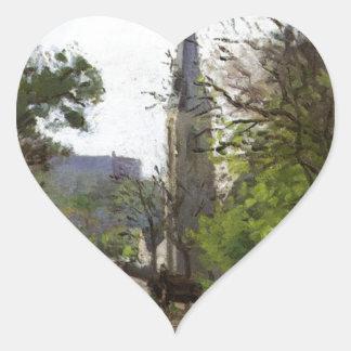 La iglesia de St Stephen, un Norwood más bajo de Pegatina En Forma De Corazón