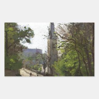 La iglesia de St Stephen, un Norwood más bajo de Pegatina Rectangular