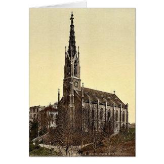 La iglesia de Unterstrasse Zurich Suiza VI Tarjeton