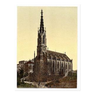 La iglesia de Unterstrasse Zurich Suiza VI Tarjeta Postal