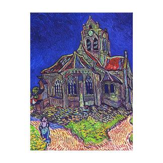 La iglesia de Vincent van Gogh 'de Auvers Impresión En Tela