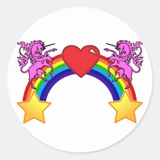 La iglesia del logotipo gay pegatina redonda