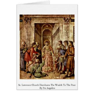 La iglesia del St. Lorenzo distribuye la riqueza Tarjeta De Felicitación