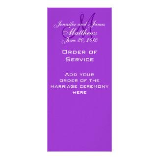 La iglesia elegante del boda del monograma program tarjeta publicitaria personalizada