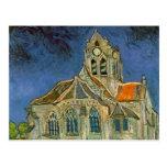 La iglesia en Auver de Vincent van Gogh Postales