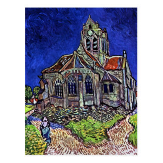 La iglesia en Auvers de Vincent van Gogh 1890 Postal