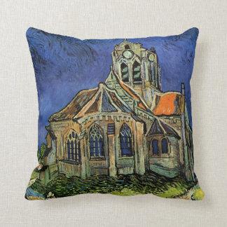 La iglesia en Auvers de Vincent van Gogh Cojín