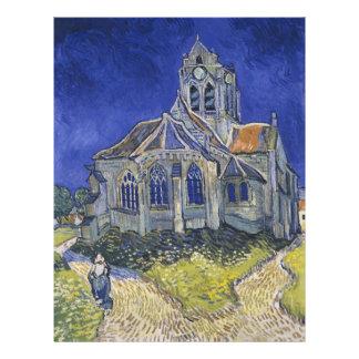 La iglesia en Auvers de Vincent van Gogh Tarjeton