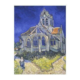 La iglesia en Auvers de Vincent van Gogh Impresion En Lona
