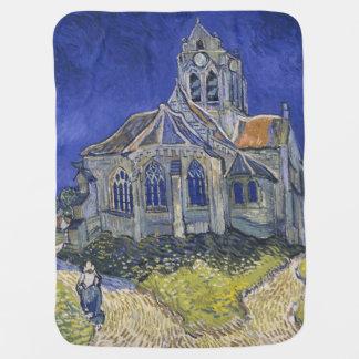 La iglesia en Auvers de Vincent van Gogh Mantas De Bebé