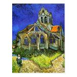 La iglesia en Auvers, Van Gogh Postal