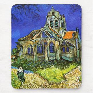 La iglesia en Auvers, Van Gogh Alfombrilla De Ratón