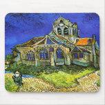 La iglesia en Auvers, Van Gogh Tapetes De Ratón