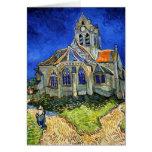 La iglesia en Auvers: Vincent van Gogh Tarjeta De Felicitación