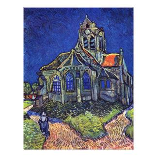 La iglesia en el Auvers-sur-Oise, por Vincent Van Tarjetas Informativas