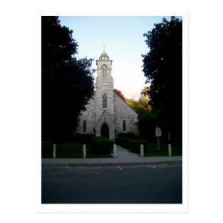 La iglesia en el valle tarjetas postales