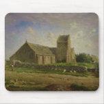 La iglesia en Greville, c.1871-74 Alfombrillas De Raton