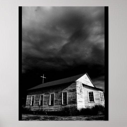 La iglesia en la plantación #1 [impresión] de póster