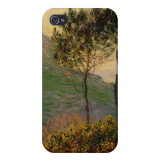 La iglesia en Varengeville - Claude Monet iPhone 4/4S Carcasas