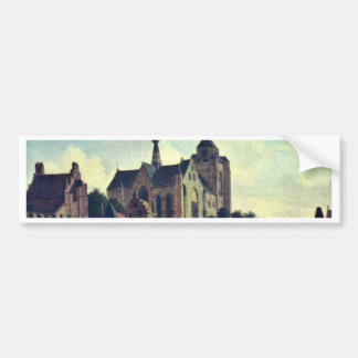 La iglesia en Veere., en enero Van Der Heyden (Bes Pegatina De Parachoque