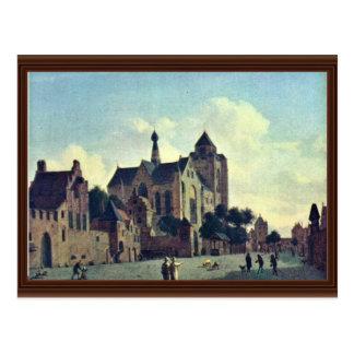 La iglesia en Veere., en enero Van Der Heyden (Bes Postal