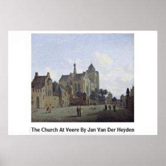 La iglesia en Veere en enero Van Der Heyden Poster