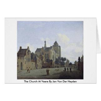 La iglesia en Veere en enero Van Der Heyden Felicitacion