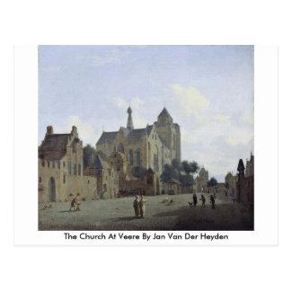 La iglesia en Veere en enero Van Der Heyden Postal