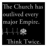 La iglesia ha sobrevivido a cada poster importante