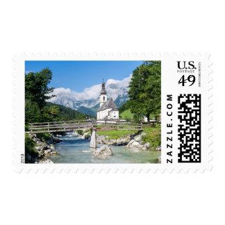 La iglesia parroquial de Ramsau Timbre Postal