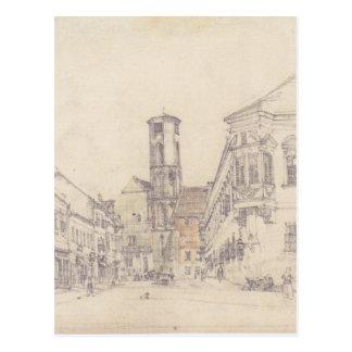 La iglesia parroquial en Ofen de Rudolf von Alt Postales
