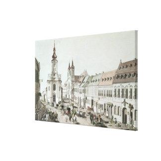 La iglesia parroquial y el cementerio de Fauxbourg Lona Envuelta Para Galerias