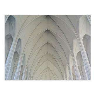 La iglesia parroquial y las señales de Reykjavik Postales