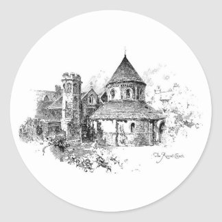 La iglesia redonda pegatina redonda