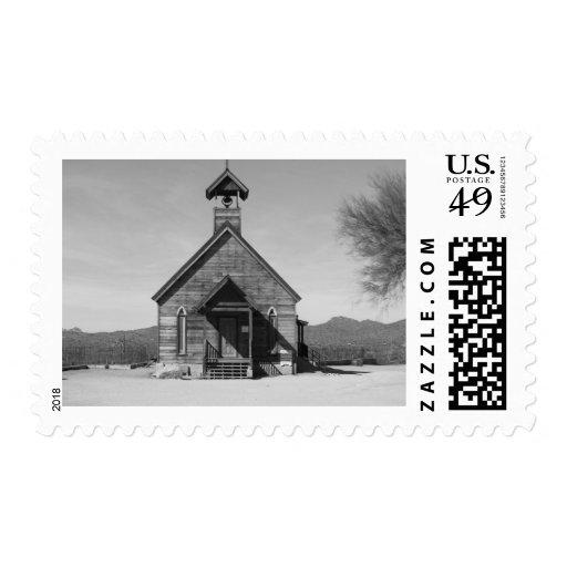 La iglesia vieja - blanco negro de n franqueo