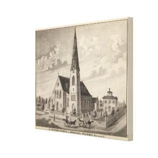 La iglesia y la residencia parroquial de San Pedro Impresiones En Lona