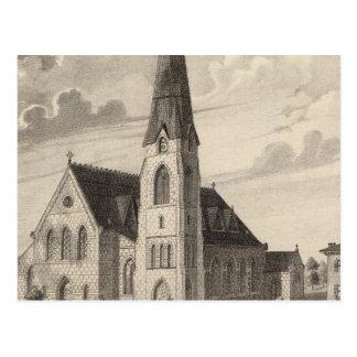 La iglesia y la residencia parroquial de San Pedro Postales