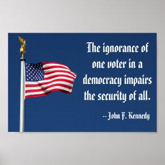 La ignorancia de un votante, poster de Kennedy Póster