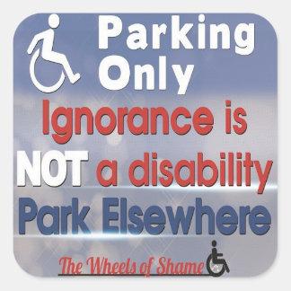 La ignorancia no es pegatina de la incapacidad