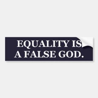 """La """"igualdad es pegatina para el parachoques de pegatina para auto"""