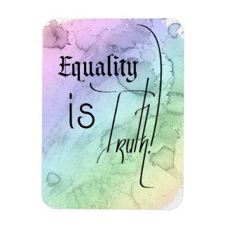 La igualdad es verdad imanes rectangulares