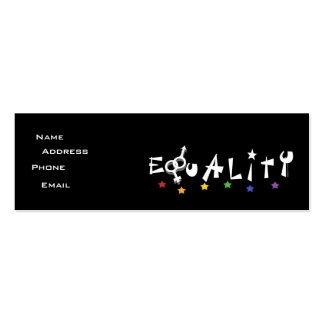 La igualdad protagoniza la tarjeta del perfil plantilla de tarjeta de visita