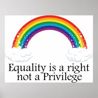 La igualdad un correcto no un privilegio posters