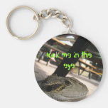 La iguana, me mira en el ojo llavero