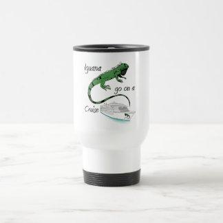 La iguana va en una travesía taza térmica