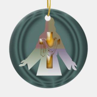 La imagen de Jesús con una cruz de la inserción co Adorno De Reyes