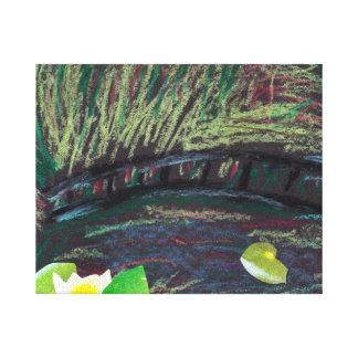 La imagen de mi hijo basada en Monet Impresión En Lienzo Estirada